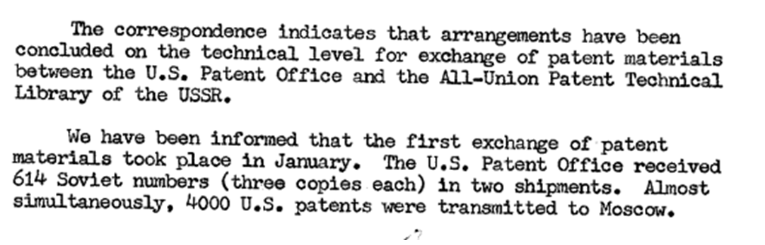 DECLASSIFIED DOCUMENTS: THE C I A AND THE PATENT WORLD